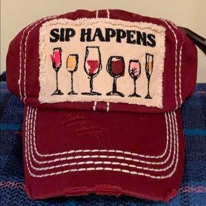 Accessories - Sip Happens Distressed cap